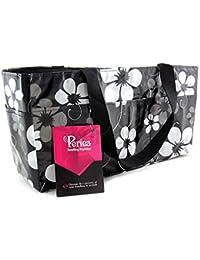 Periea - Sac de rangement/Pochette/Organisateur intérieur pour sac à main , 16 poches EXTRA LARGE 34x19x13cm - Janis noir