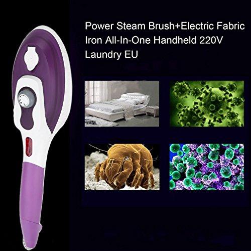 Eisen-maschine-kleidung (NEUE Eu-stecker Garment Steamer Tragbarer Handheld Kleidung Dampfbügeleisen Maschine Dampfbürste elektrische eisen dampfbügeleisen (farbe: weiß + rose rot))