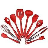 10 pezzi in silicone Utensili da cucina Set - Spatole, cucchiai e Turner, resistente al calore Premium casa strumenti di cottura Kit