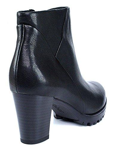 Gabor Comfort 32.861 Damen Stiefel/Stiefelette (Ankle Boots) mit Reißverschluss mit Blockabsatz Leder schwarz (Micro)