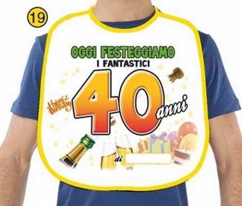 COMPLEANNO 40 anni BAVAGLIONE Scherzi Gadget festa party Regalo - 40 Festa Di Compleanno