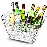 Glacier acrílico geométrico cubo de vino, cubo de Champán, Vino Enfriador, enfriador de