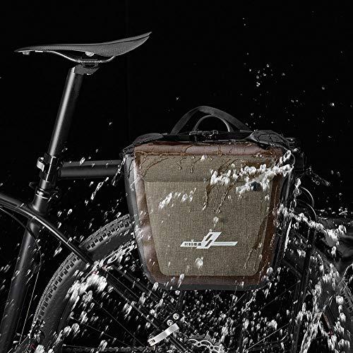 XdremYU Lagerung Faltbarer Organizer Stapelbarer Container Würfel Korb Kunst und Handwerk 18L Wasserdichte Mountain Road Fahrrad Fahrrad Rücksitz Carrier Pannier Radfahren Tasche -