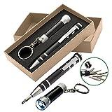 Schraubenzieher Set mit LED Taschenlampe / Farbe: schwarz