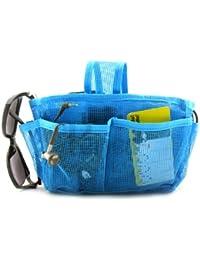 Periea - Sac de rangement/Pochette/Organisateur intérieur pour sac à main , 20 poches 25x14x7cm - Megan bleu