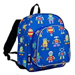 Wildkin Pack n Snack Backpack - Olive Kids Robots