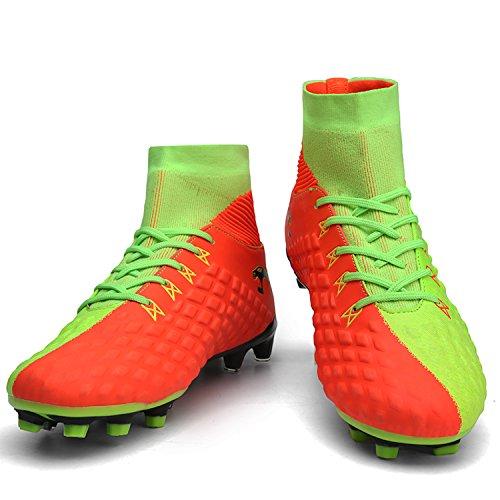 welltree Hombre Niño Botas de Fútbol Zapatos de Fútbol al Aire Libr