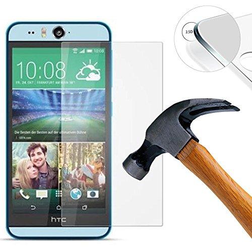 Lusee® 2 X Pack Panzerglasfolie Tempered Glass Hartglas Schutzfolie für HTC Desire EyePremium Screen Folie Protector Ultra Hart Bildschirmschutz 0,3mm 9H Clear 2.5D