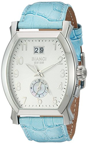 ROBERTO BIANCI WATCHES Women's 'La Rosa' Swiss Quartz Stainless Steel and Leather Casual Watch, Color:Blue (Model: RB18635)