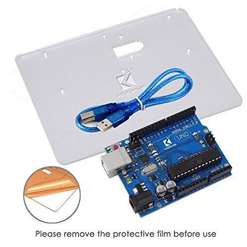 511v%2BwDswWL - KOOKYE Uno R3 ATmega328 completo kit de arranque para Arduino con 19 proyectos