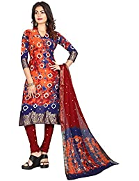 Taboody Empire Ideal Multi Satin Cotton Handi Crafts Bandhani Work With Straight Salwar Suit For Girls And Women