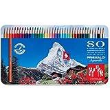 Caran D'ache Prismalo Aquarelle - Juego de lápices de color (80 unidades)