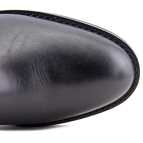 Coach Eva Cuir Botte Black-Saddle