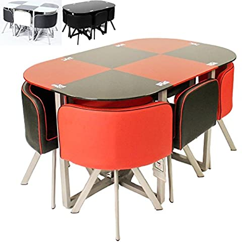 Charles Jacobs Premium Space Saving Dining Table Set With 6
