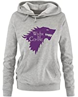 Comedy Shirts - WINTER IS COMING - II - Einfarbig - Damen Hoodie - Gr. S - XL Versch. Farben