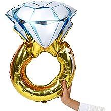 attachmenttou Anillo de Diamantes El tamaño Grande de Boda Decoraciones del Partido Aire de la Hoja