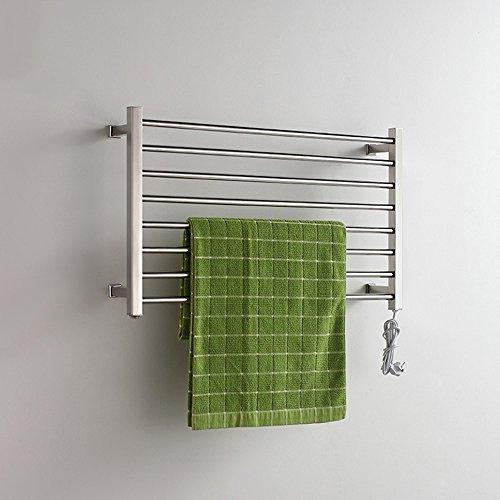 304 acero inoxidable eléctrico montado en la pared toalla calentador de baño calefacción toallero