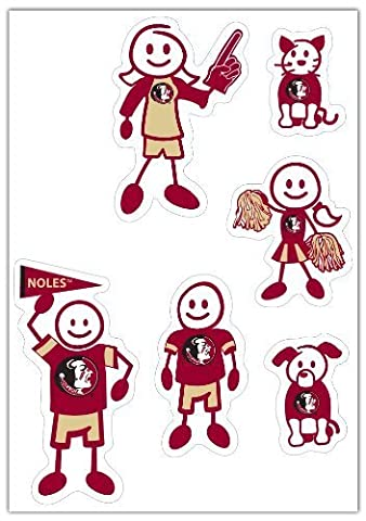 NCAA Florida State Seminoles Small Family Decal Set by Siskiyou Gifts Co, Inc.