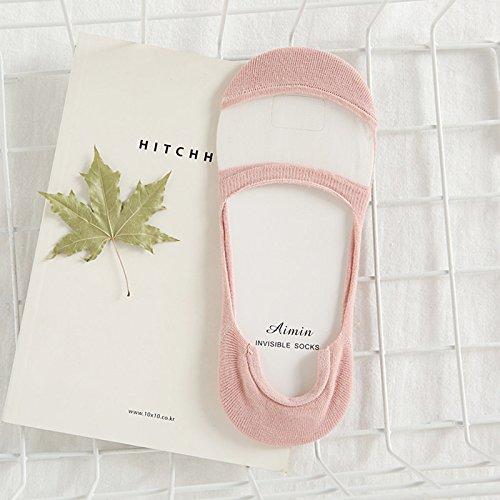 Lagougou Sommer Glas Strümpfe Socken Japanische Cute Transparente Flachen Mund Unsichtbar Socken...