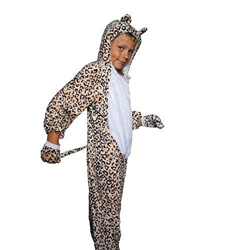 Kostüme Kinder Star (Leopard Karneval Kinder Kostüm Schlafanzug Fasching Katze Tiger)