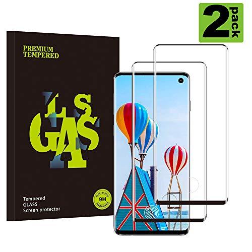 Galaxy S10 Film Protection Ecran Verre Trempé, [2 Pièces] Ultra Claire,sans Bulles,Film Protecteur en Verre trempé de Haute qualité pour Samsung Galaxy S10