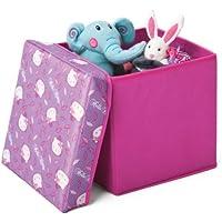 Preisvergleich für Delta Children's Products Hello Kitty lizenziert Canvas Spielzeugkiste Aufbewahrungsbox mit Deckel Box Truhe