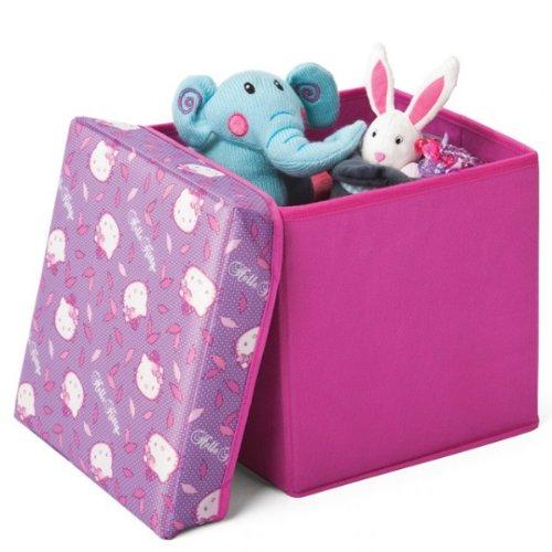 Hello Kitty lizenziert Canvas Spielzeugkiste Aufbewahrungsbox mit Deckel Box Truhe NEU