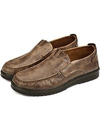 a3bc2efa9938e Gracosy Chaussures de Ville Homme, Mocassins Classique en Cuir Microfibre  Loafter Slip on A Enfiler pour Travail…