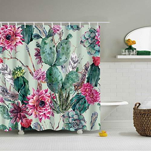 hysxm Muster Duschvorhang Für Badezimmer Mode Wasserdicht Polyester Bad Dekorative Vorhang Dekor 1 Stück-180(H)*180(W) cm