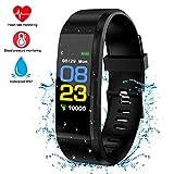 Fitness-Tracker, Herzfrequenzmesser Farbe Touchscreen Smart Watch / Armband mit Schlaf-Monitor, Schrittzähler, Message Reminder, IP67 Wasserdichte Aktivität.