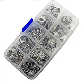 erioctry 1Box Silver Accessoires de Bricolage Bali Style Spacer Beads Charms Jewelry Making for Hand Made Beaded Hand Chain Charms Bracelet Collier Paquet de matériaux (Mixed)