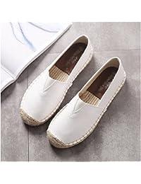 XINGMU Zapatos Zapatillas Estudiante De Pescadores Zapatos Zapatos De Suela Plana 39 Blanco