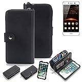 K-S-Trade 2in1 Handyhülle für Huawei Y5 II Dual-SIM Schutzhülle & Portemonnee Schutzhülle Tasche Handytasche Case Etui Geldbörse Wallet Bookstyle Hülle schwarz (1x)