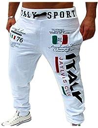 6de20d3ed5f9c LIANIHK Hombres Impresión Casual Harem Holgado Hip Hop Danza Pantalones De  Chandal