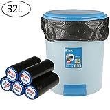 32L (100 Pezzi) Sacchetti della spazzatura, Sacco spazzatura, Sacchi per rifiuti, Sacchi Nettezza, sacchetti di immondizia,Sacchi per Rifiuti PE