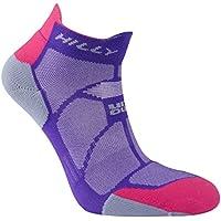 Hilly Women's Marathon Fresh Socklet Running Socks-Purple/Pink/Grey, Small