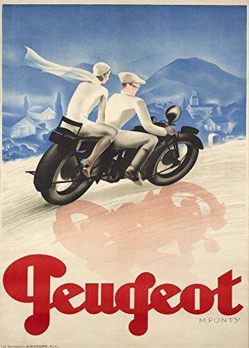 Vintage Motorräder Peugeot Motorräder 250gsm, Hochglanz, A3, vervielfältigtes Poster (Motorräder Vintage Britische)