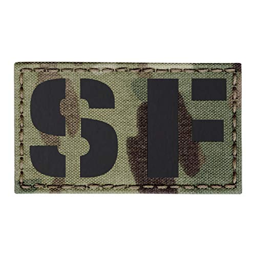 IR Multicam SF Special Forces US Army SOF 2x3.5 Tactical Morale Hook-and-Loop Patch Special Forces Shoulder Tab