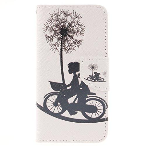 iPhone 6S Coque, iPhone 6 Coque, Lifeturt [ Une fleur ] Coque Dragonne Portefeuille PU Cuir Etui en Cuir Folio Housse, Leather Case Wallet Flip Protective Cover Protector, Etui de Protection PU Cuir P E02-Dandelion Love148973