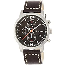 Ted Baker Te1132 Menâs Braun Leder Chronograph Uhr Leather