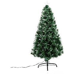 Arbol de Navidad Altura 120 cm + Estrella y 130 Luces LED Arboles Fibra Optica