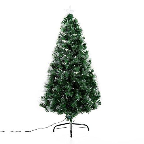 Arbol de Navidad Altura 120 cm + Estrella y 130 Luces LED...