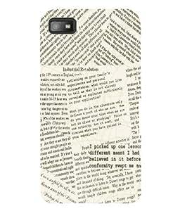 Fuson 3D Printed News Paper Designer Back Case Cover for Blackberry Z10 - D598