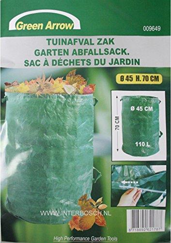 3 Stück Gartenabfallsack 110 Liter Laubsack Rasensack Abfallsack Gartenabfälle