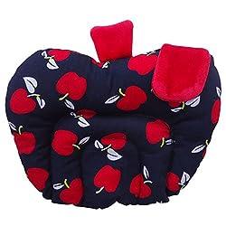 Littly Mustard Seeds (Rai) Pillow - Apple Shape (Black)