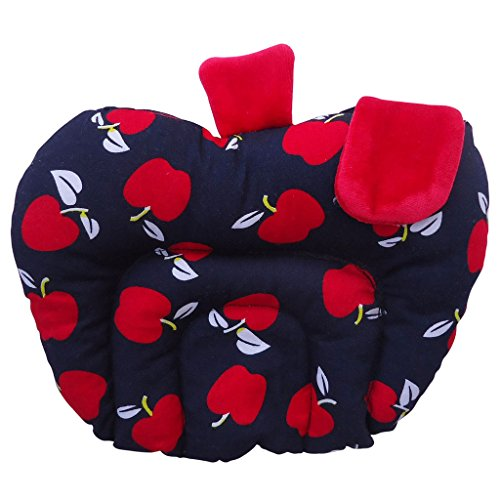 Littly Mustard Seeds (Rai) Baby Pillow - Apple Shape (Cotton) - Black