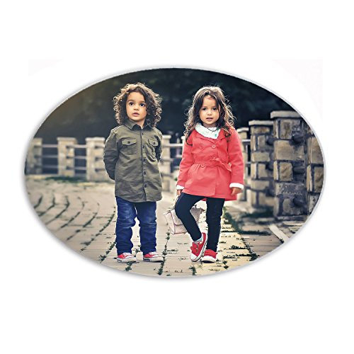 YONACREA - MAGNET en forme OVALE - Personnalisé avec la photo de votre choix - Personnalisable en ligne