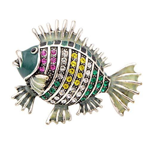 ZCBWNH Lebendige Fische Broschen Für Frauen Niedlichen Tier Pins Lebendige Tropische Fische Schmuck Mantel Zubehör Geschenk -