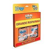Gillette Fusion Lamette di Ricambio per Rasoio, Confezione da 10 Pezzi, Maxi Formato