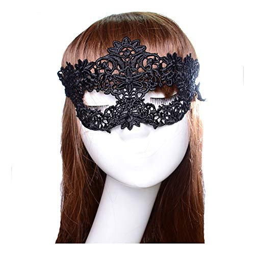 SCLMJ Damenmaske Masque Black Lace Halbe Gesichtsmaske Für Halloween-Party, K (Halloween Clown Masque De)